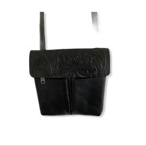 Patricia Nash - Stipes Leather Crossbody - Black